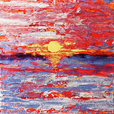 Pebeo Sunset After The Storm Poster by Patricia Beebe