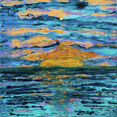 Pebeo Sunset Caribbean Poster by Patricia Beebe