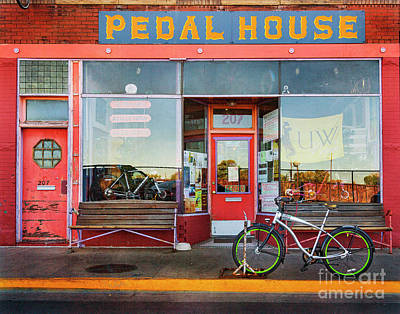 Poster featuring the photograph Pedal House Of Laramie by Craig J Satterlee