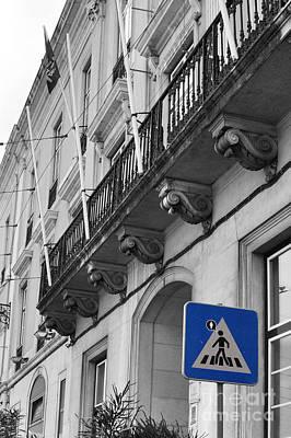 Pedestrian Crossing Poster by Floyd Menezes
