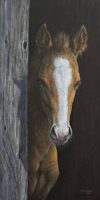 Poster featuring the painting Peek A Boo by Kim Lockman