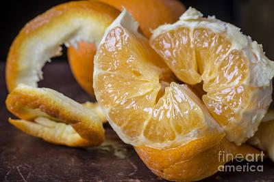 Peeled Orange Still Life Poster