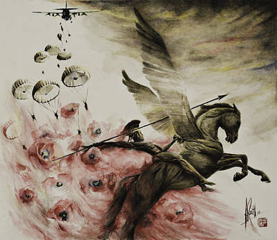 Poster featuring the painting Pegasus by Alan Kirkland-Roath