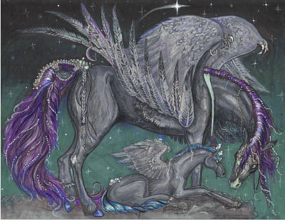 Pegasus Mare And Foal Poster