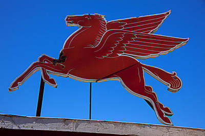 Pegasus Oil Sign Poster by Garry Gay
