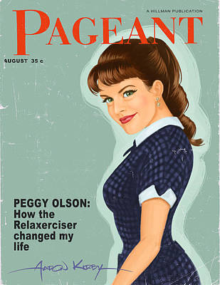 Peggy Olson In Pageant Poster by Aaron Kirby