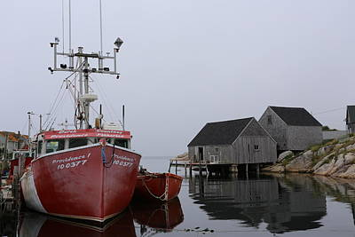 Peggy's Cove Fishing Boat Poster by Imagery-at-Work