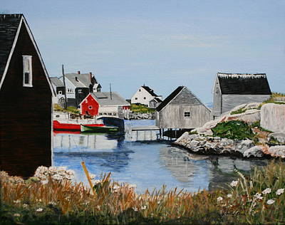 Peggys Cove Nova Scotia Poster by Betty-Anne McDonald