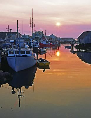 Peggy's Cove Sunset, Nova Scotia, Canada Poster