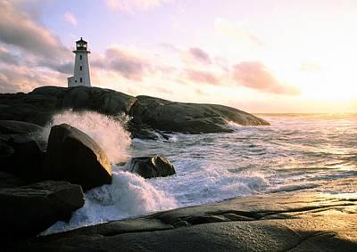 Peggy's Point Lighthouse, Canada, Nova Scotia, Peggy's Cove Poster