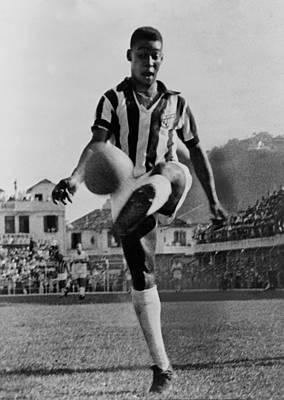 Pele B. 1940, The Brazilian Soccer Poster by Everett