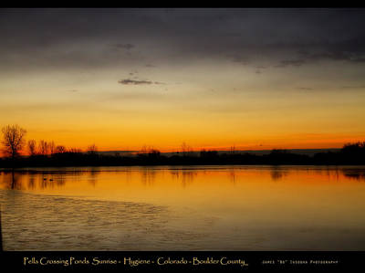 Pella Ponds  December 16th Sunrise Poster Photography Print Poster