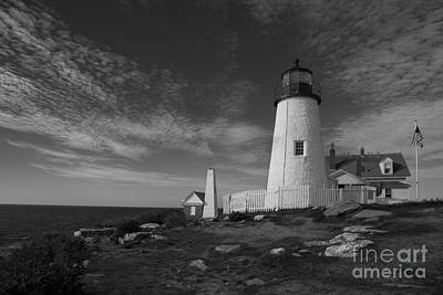 Pemaquid Black And White Poster by Timothy Johnson