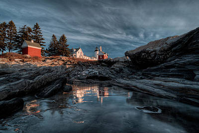Pemaquid Light Reflected Poster