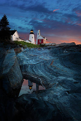 Pemaquid Lighthouse At Dawn Poster