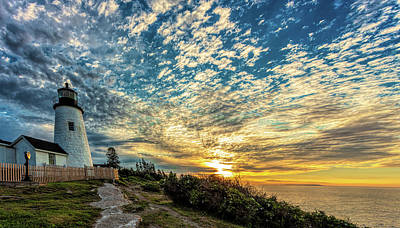 Pemaquid Point Lighthouse At Daybreak Poster