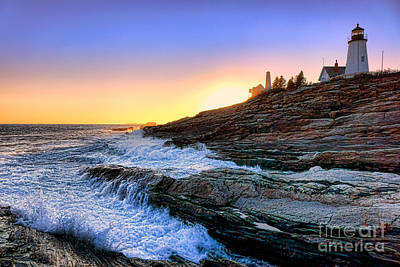 Pemaquid Point Sunset Poster by Olivier Le Queinec