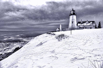 Pemaquid Point Winter Scene Poster