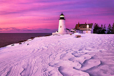 Pemaquid Winter Sunrise Poster