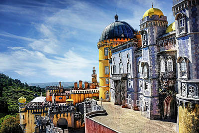 Pena Palace In Sintra Portugal  Poster by Carol Japp