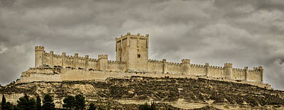 Penafiel Castle, Spain. Poster by Pablo Lopez