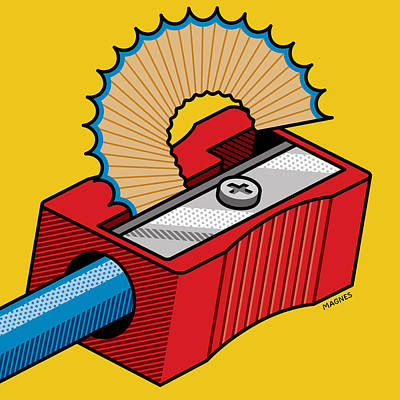 Poster featuring the digital art Pencil Sharpener by Ron Magnes