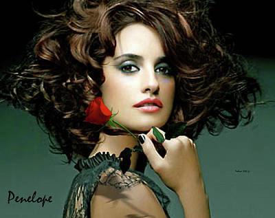 Penelope Cruz Poster by Thomas Pollart