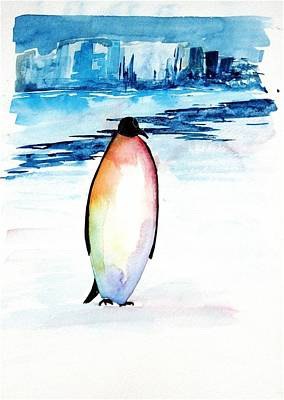 Penguin 2 Poster by Carolyn Doe