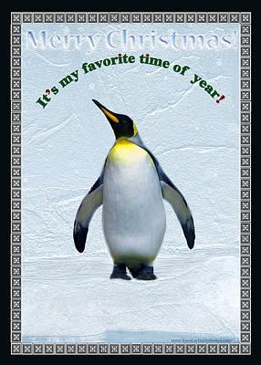 Penguin Christmas Poster by Steve Karol