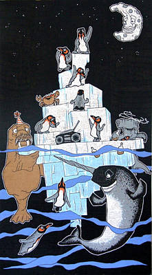 Penguin Party Poster by Bizarre Bunny