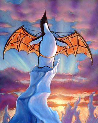 Penguin Wings Poster by Michael Orwick
