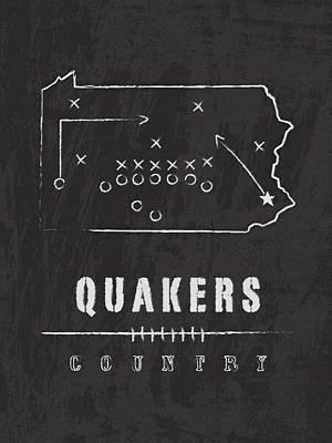 Penn Quakers Country Poster by Damon Gray