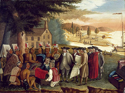 Penn's Treaty With The Indians Poster by Edward Hicks