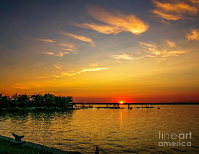 Pennsville Sunset Poster by Nick Zelinsky