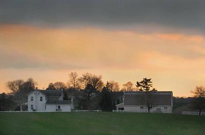 Pennsylvania Farm At Sunset Poster by Gordon Beck