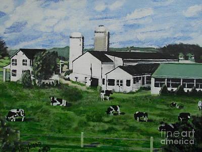 Pennsylvania Holstein Dairy Farm  Poster