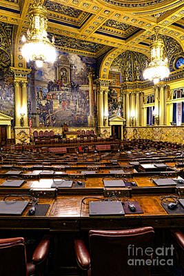 Pennsylvania House Of Representatives Poster by Olivier Le Queinec