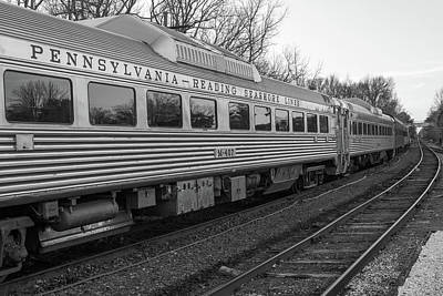 Poster featuring the photograph Pennsylvania Reading Seashore Lines Train by Terry DeLuco