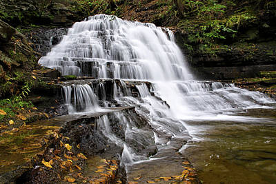 Poster featuring the photograph Pennsylvania Waterfall by Christina Rollo