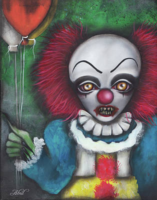 Pennywise Poster by Abril Andrade Griffith