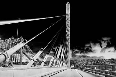 Penobscot Narrows Bridge In Infrared Poster by Kay Brewer