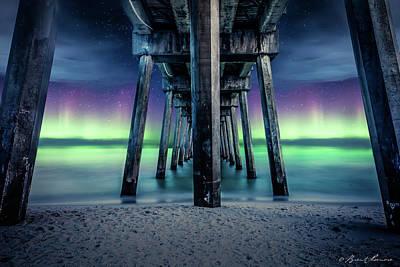 Pensacola Beach Solar Storm Poster