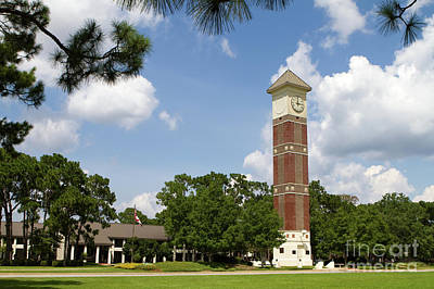 Poster featuring the photograph Pensacola State College by Steven Frame