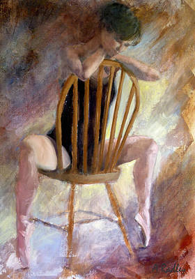 Pensive Dancer Poster by Ann Radley