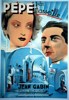 Pepe Le Moko, Jean Gabin, 1937 Poster