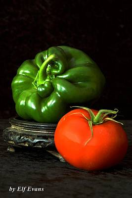 Poster featuring the photograph Pepper And Tomato by Elf Evans