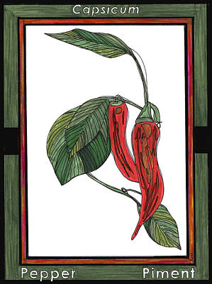 Pepper Piment Poster by Baya Clare