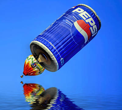Pepsi Can Hot Air Balloon At Solberg Airport Reddinton  New Jersey Poster