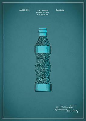 Pepsi Cola Bottle Patent 1930 Poster
