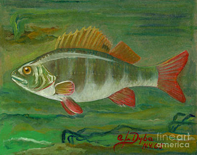 Perch Poster by Anna Folkartanna Maciejewska-Dyba